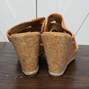 White Mountain Shoes - White Mountain Woven Strap Wedge Heel Sandals Sz 8